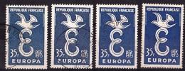 1958 - Nuances De Bleu - N° 1174 Oblitérés - Europa - Errors & Oddities