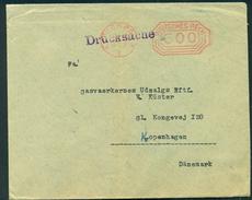 Germany. Infla Werbebrief Mit Freistempel PØSNECK  Im Ort 1923. Drucksache Send To Denmark - Germany