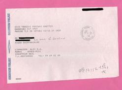 CACHET CENTRE TELEPHON.NANTES CAMBRONNE  SUR SERVICE TELEX - Marcophilie (Lettres)