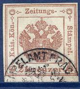 AUSTRIA 1859 Newspaper Stamp 2 Kr.  Red-brown Plate II Used.  Michel 3X Pl.II - Newspapers