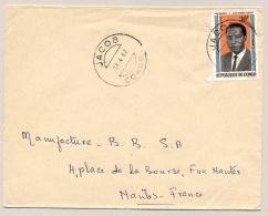 Congo - 1967 - 30Fr Pres Massamba-Debat On Cover From Jacob To Nantes / France - Congo - Brazzaville