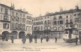 88-EPINAL- PLACE DES VOSGES, VERS LA RUE ST-GOËRY - Epinal