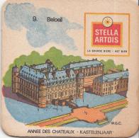 Stella Artois - Kastelenjaar - Beoeil - Nummer 9 - Ongebruikt Exemplaar/kartonverkleuring - Bierviltjes