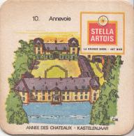 Stella Artois - Kastelenjaar - Annevoie - Nummer 10 - Ongebruikt Exemplaar/kartonverkleuring - Bierviltjes