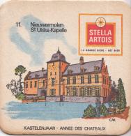 Stella Artois - Kastelenjaar - Nieuwermolen St. Ulriks-Kapelle - Nummer 11 - Ongebruikt Exemplaar/kartonverkleuring - Bierviltjes