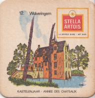 Stella Artois - Kastelenjaar - Wulverringem - Nummer 12 - Ongebruikt Exemplaar/kartonverkleuring - Bierviltjes