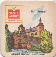 Stella Artois - Kastelenjaar - Rixensart - Nummer 14 - Ongebruikt Exemplaar/kartonverkleuring - Bierviltjes