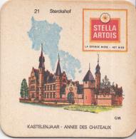 Stella Artois - Kastelenjaar - Sterckshof - Nummer 21- Ongebruikt Exemplaar/kartonverkleuring - Bierviltjes