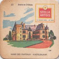 Stella Artois - Kastelenjaar - Braine-le-Château - Nummer 23- Ongebruikt Exemplaar/kartonverkleuring - Bierviltjes