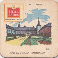 Stella Artois - Kastelenjaar - Fanson - Nummer 24 - Ongebruikt Exemplaar/kartonverkleuring - Bierviltjes