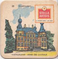 Stella Artois - Kastelenjaar - Kruishoutem - Nummer 26 - Ongebruikt Exemplaar/kartonverkleuring - Bierviltjes