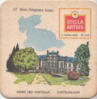 Stella Artois - Kastelenjaar - Bois-Seigneur-Isaac - Nummer 27 - Ongebruikt Exemplaar/kartonverkleuring - Bierviltjes
