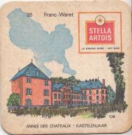 Stella Artois - Kastelenjaar - Franc-Waret - Nummer 28 - Ongebruikt Exemplaar/kartonverkleuring - Bierviltjes