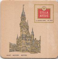 Stella Artois - Aalst - Belfort/Beffroi - Gebruikt Exemplaar/speldenprikgaatje - Zie Scan - Bierviltjes