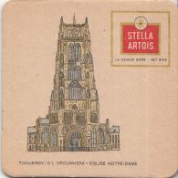 Stella Artois - Tongeren – O.L. Vrouwkerk/Église Notre-Dame - Gebruikt Exemplaar/speldenprikgaatje - Zie Scan - Bierviltjes