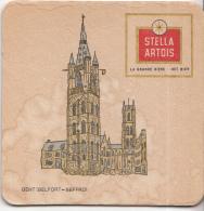 Stella Artois - Gent - Belfort/Beffroi - Gebruikt Exemplaar/speldenprikgaatje - Zie Scan - Bierviltjes
