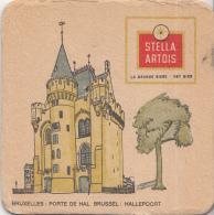Stella Artois - Bruxelles/Brussel - Port De Hal/Hallepoort  - Gebruikt Exemplaar/speldenprikgaatje - Zie Scan - Bierviltjes