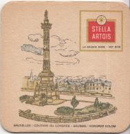 Stella Artois - Bruxelles/Brussel – Colonne Du Congres/Kongres Kolom - Gebruikt Exemplaar/speldenprikgaatje - Scan - Bierviltjes