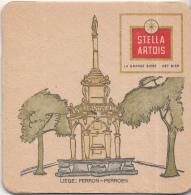 Stella Artois - Liège – Perron/Perroen - Gebruikt Exemplaar/speldenprikgaatje -zie Scan - Bierviltjes