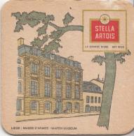 Stella Artois - Liège – Musée D'Armes/Wapen Museum - Gebruikt Exemplaar/speldenprikgaatje -zie Scan - Bierviltjes