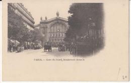 Dep  75 - Paris -  Gare Du Nord, Boulevard Denain  - CArte Précurseur : Achat Immédiat - Metro, Estaciones