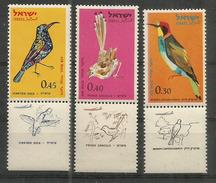 Oiseaux D'Israël:bird Sinai Rose Finch,Martin-chasseur De Smyrne,Oenanthe,etc Série Complète **. 3 Photos - Songbirds & Tree Dwellers