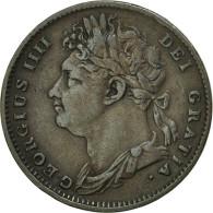 Grande-Bretagne, George IV, Farthing, 1825, TTB, Cuivre, KM:677 - B. 1 Farthing