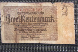 Allemagne 2 Rentenmark 1937 - [ 4] 1933-1945 : Troisième Reich