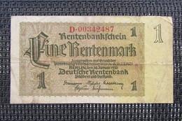 Allemagne 1 Rentenmark 1937 - [ 4] 1933-1945 : Third Reich