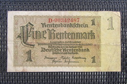 Allemagne 1 Rentenmark 1937 - [ 4] 1933-1945 : Troisième Reich