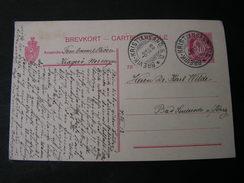 Karte Mit Bahnhpost Brevik - Kristiansand 1918