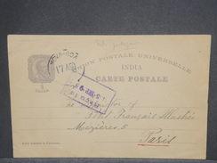 INDE PORTUGAISE  - Entier Postal Illustré En 1898 De Nova Boa Pour La France - L 7336 - Inde Portugaise