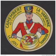 Etiquette De Fromage Camembert   -  Le Joli Tambour  -  La Varenne à Soucé   (53 ) - Fromage