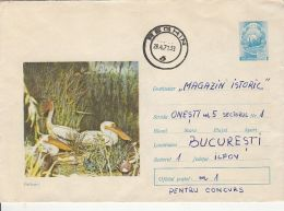 59057- PELICANS, BIRDS, COVER STATIONERY, 1971, ROMANIA