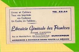 BUVARD & Blotting Paper :  Librairie Generale Des Flandres ANDRE CARDON DUNKERQUE - Stationeries (flat Articles)