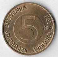 Slovenia 2000 5 Tolarjev [C31/1D] - Slovenia