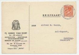 Firma Briefkaart Bergen Op Zoom 1939 - Oesters - Kreeften - Vis - Unclassified
