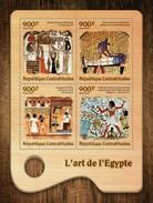 CENTRAFRICAINE 2016 SHEET EGYPTIAN ART PAINTINGS Ca16713a - Centrafricaine (République)
