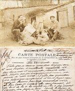 Carte Photo A Localiser-Ecrite A NIMES-Photo Prise Dans Les Charentes-Compagnon (Souvenir D' Un Tour De France   (96257) - Craft