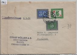 1945 PAX 262/447 265/450 W24/464 - Stempel: Basel Nachnahme Nach St. Gallen - Schweiz