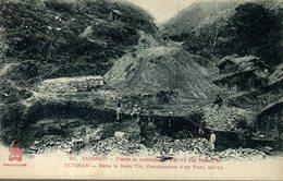 RARE  PONTE IN CONSTRUZIONE    CHINE - YUNNAN - Dans Le Nam Thi, Construction D'un Pont - China