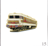 Pin's Transport - SNCF / Locomotive Electrique CC 6500 Béton De 1970. Estampillé Tablo 1992. EGF. T515-15 - Trasporti