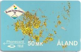 Aland - Map Of Åland - 4FINB - MD013 - 06.1991, 5.000ex, Used - Aland