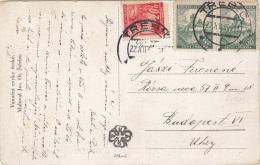 BÖHMEN Und MÄHREN 1922 - 3 Fach Frankierung Auf Künstlerkarte VESELE VÀNOCE - Böhmen Und Mähren