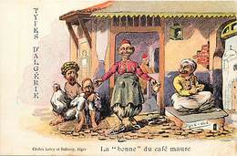 Ref R996- Illustrateur Drack Oub - Types D Algerie - La Bonne Du Café Maure  - Carte Bon Etat  - - Altre Illustrazioni