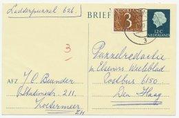 Briefkaart G. 336 / Bijfrankering Zoetermeer - Den Haag 1967 - Material Postal