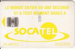 CENTRAL AFRICAN REPUBLIC - SOCATEL Logo Yellow(20 Units), Chip SC7, Black Schlumberger Logo-white BN, Used - Central African Republic