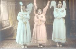 RARISIME 3 ANGELS ANGELS FOTO SEGALLA ELORTONDO REMOTISIME DEPARTAMENTO GENERAL LOPEZ PROVINCIA DE SANTA FE CIRCA 1890 - Engelen