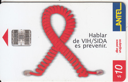 URUGUAY - Against AIDS(212a), 12/01, Used