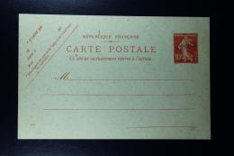 France: Carte Postal Sameuse   10 C.  Type E2a ANNULE En Violet - Ganzsachen